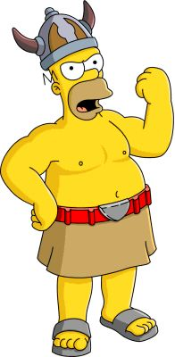 """Barbarian Homer from """"The Simpsons: Tapped Out"""""""
