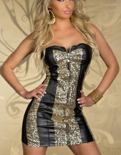 Strapless Cocktail Sequin Dress Black Item No. : W3124C Weight : 0.3 KG Goods click count: 58 Market Price : US$ 14.61 Sales Price : US$ 8.35