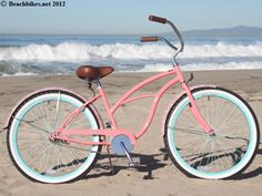 Reasonably priced beach bikes in adorable color combos