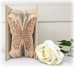 Combination Book Folding Pattern Butterfly + FREE Tutorial and Metric Ruler Printable by Book Folding Magic                                                                                                                                                                                 More