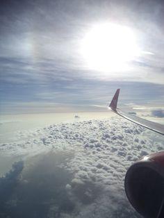 wonderful sun shine..... I love sky #sun #sky #plane #traveling #cloud