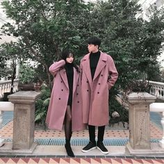 Date Outfits, Korean Outfits, Fashion Outfits, Matching Couple Outfits, Matching Couples, Korean Winter, Korean Couple, Ulzzang Couple, Fashion Couple
