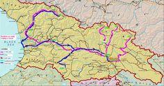 Cestování v Gruzii, hory na Kavkaze. Informace - ceny jídla, ubytování, doprava v Gruzii. Popisy treku, mapy Kavkazu. Památky a hezká místa.