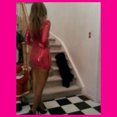 My outfit for Dec. 21st/2012. Fuchsia sequence mini dress.