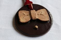 Doctor Who ornament  Matt Smith Bow Tie Choice by OlivePitPottery, $10.00