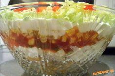 Salatik doporucujem urobit do saltovej misky z cireho skla. Pekne tak vyniknu jednotlive vrstvy. Pod...