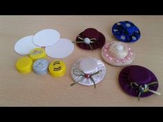 How to Make Woven Ribbon Hat from Plastic Cap Diy Arts And Crafts, Craft Stick Crafts, Crafts For Kids, How To Make Scrunchies, How To Make Bows, Barbie Accessories, Diy Hair Accessories, Bottle Cap Crafts, Making Hair Bows