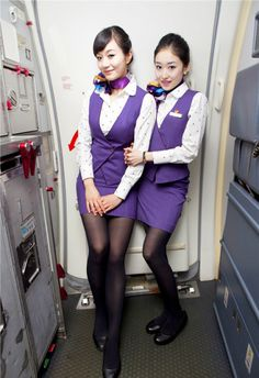 Beauty Stewardesses Xiamen Airlines