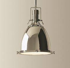 kitchen lighting. bensen pendant, restoration hardware