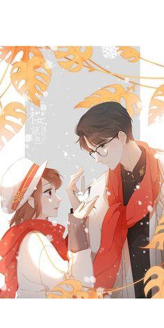 Love like Cherry blossoms Anime Couples Hugging, Anime Couples Drawings, Anime Couples Manga, Hipster Drawings, Couple Drawings, Easy Drawings, Pencil Drawings, Otaku Anime, Anime Cupples