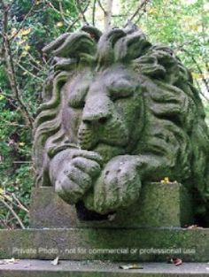 The 170 year old cemetery known as Highgate in London is filled with history.  This is Nero the Lion guarding the grave of his owner, George Wombwell, the English forerunner of Barnum and Bailey.  His exotic animal shows were the highlight of many country fairs around London.