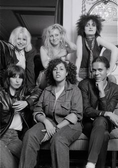 1980: Debbie Harry of Blondie Viv Albertine of The Slits Siouxsie Sioux Chrissie Hynde of The Pretenders Poly Styrene of X-Ray Spex and Pauline Black of The Selector