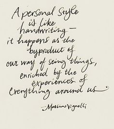 personal style is like handwriting //