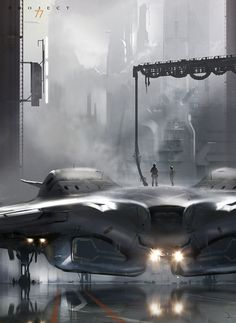 Epic sci-fi illustration