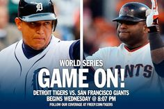 The World Series featuring the Detroit Tigers and San Francisco Giants kicks off at 8:05 p.m. Wednesday.