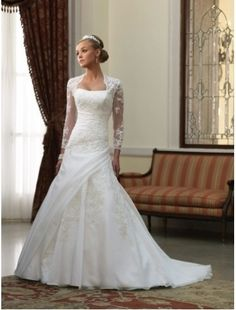 Brautkleider - Brautkleid Linea - ein Designerstück von Justynada bei DaWanda
