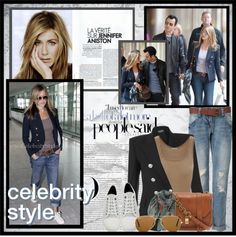 """Celebrity Style: Jennifer Aniston"" by lisabedow ❤ liked on Polyvore"