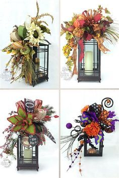 How to make a Lantern Swag for any season by SouthernCharmWreaths                                                                                                                                                                                 More