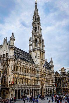 """""""Hôtel de Ville at Grand Place - Brussels Belgium"""" by mbell1975 on Flickr - Hotel de Ville at Grand Place, Brussels, Belgium"""