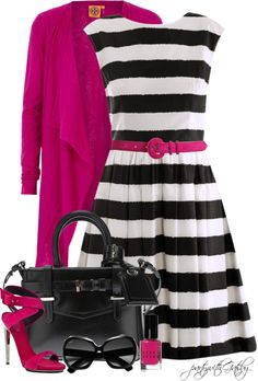 """Fuscia"" by partywithgatsby on Polyvore"