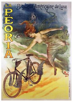 Poster advertising La Peoria bicycles by Pal (Jean de Paleologue) (1855-1942) / Bridgeman Images