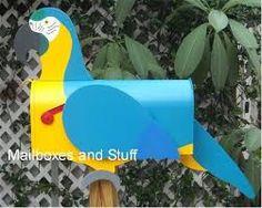 A Parrot Mailbox.