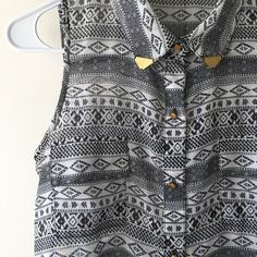Aztec Hardware Blouse Urban yet chic light blouse. Pair it with moto pants for an edgy look or with a bright colored skirt for a feminine, eclectic look. Tops Blouses