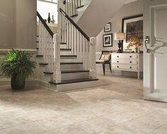 Style Selections 12-in x 24-in Bermuda Sand Stone Finish Vinyl Tile | Lowe's Canada