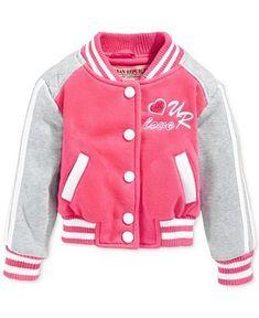 Urban Republic Girls' or Little Girls' Varsity Jacket - Kids Toddler Girls - Macy's Fashion Niños, Urban Fashion Girls, Urban Fashion Trends, Kids Fashion, Fashion Ideas, Fashion Shoot, Fashion Inspiration, Fashion Outfits, Disney Baby Clothes