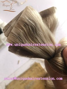 100% premium quality invisible tape in extensions, factory price with the best quality, hair salon best choice, the hair very soft, tangle free no shedding, many fashion color you can choose, also can produce your own color ring. email us sales@uniquehairextension.com to get wholeslae price. Our factory also produce tape in extensions, keratin hair extensions, hand tied weft, clip in extensions, hair weft lace wigs, just contact us to get more information. www.instagram.com/qingdaouniquehair Keratin Hair Extensions, Tape In Hair Extensions, Hair Weft, Unique Hairstyles, Color Ring, About Hair, Fashion Colours, Lace Wigs, Braids