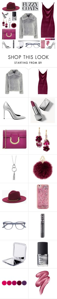 """Senza titolo #6864"" by waikiki24 ❤ liked on Polyvore featuring Topshop, Yves Saint Laurent, Burberry, Salvatore Ferragamo, Betsey Johnson, BillyTheTree, Furla, Chico's, ban.do and EyeBuyDirect.com"