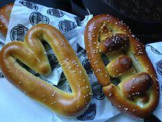 Pretzels and Hearts #ClarkiGras #pretzels #football #hearts