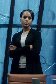 """The Limited"" Scandal Collection Epaulet Cardigan worn by Olivia Pope (Kerry Washington) on Scandal, Season 4."