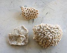 Antique Trio of Vintage Coral Pieces 3 by shavingkitsuppplies, $20.00