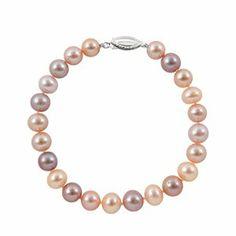 Sterling Silver A Quality 7-7.5mm Multicolor Freshwater Pearl Strand Bracelet, 8 Inch Joy De Mer. $43.00