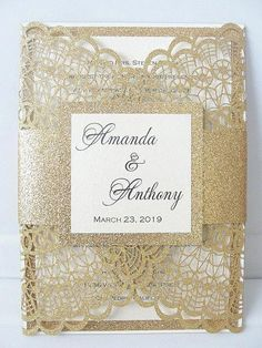 Must see Laser Cut Wedding Invitations. Offering many different Laser Cut designs to choose from! Visit us today to get started on your custom laser cut wedding invites. Star Wedding, Glitter Wedding, Wedding Day, Gold Glitter, Gold Gold, Formal Wedding, Diy Wedding, Wedding Favors, Wedding Events