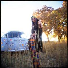 VW Hippy chick