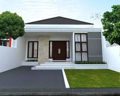 rustic home decor diy projects using exterior house design app android with indian house paint design exterior for house plans modern bungalow House Paint Design, Small House Design, Modern House Design, Bungalow Haus Design, Modern Bungalow House, Minimalist House Design, Minimalist Home Decor, Minimalist Kitchen, Minimalist Living