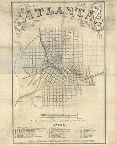 1864 Map of Atlanta Georgia - Visit to grab an amazing super hero shirt now on sale!