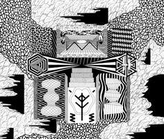 35x35, rotring  pochette d'album pour lescrane angels  2012