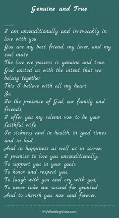 Super wedding vows that make you cry to husband marriage quotes ideas Romantic Wedding Vows, Best Wedding Vows, Funny Wedding Vows, Wedding Vows To Husband, Wedding Poems, Wedding Humor, Dream Wedding, Wedding Rustic, Garden Wedding