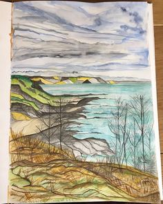 Will leave it there! More sketching to be done :) . Cornwall, Sketching, Watercolour, Behind The Scenes, Coastal, Leaves, Painting, Instagram, Art