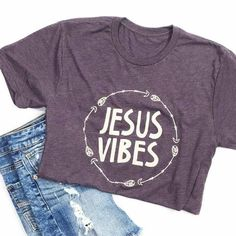 This is a super-soft unisex t-shirt with our Jesus Vibes design. FIT: Unisex - Runs true to size. *Tri-Blend Deep Purple with vintage cream design. Size Bust/Chest Inches Small 34-36 Medium 38-40 Larg