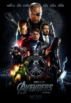 The Avengers 2012 is a hollywood movie directed and written by Joss whedon. The movie is based on the Avengers, superhero group of Marvel comics and it's the sixteenth installment of marvel cinematic Universe and produced by Marvel Studios. Avengers 2012, The Avengers, Poster Avengers, Avengers Movies, Superhero Movies, Avengers Trailer, Poster Marvel, Avengers Shield, Movie Posters