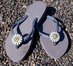 not mine but found a great tutorial to make those amazing ribbon and flower flip flops