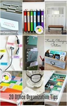 20 AWESOME Office Organization Tips - these are such great ideas!!