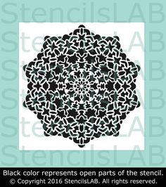 Mandala-Style Stencil For DIY Decor Projects - Geometric Pattern Stenc – StencilsLab Wall Stencils