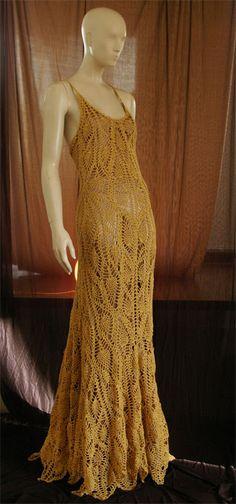 Crochet: crochetmestres crochetmes3: Vestido de acero y raso para acabar el año