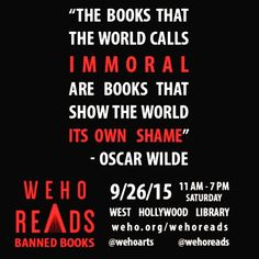 WeHo Reads Banned Books: a one day literary event on September 26 you won't want to miss! Visit weho.org/wehoreads to learn more! #WeHo #wehoarts