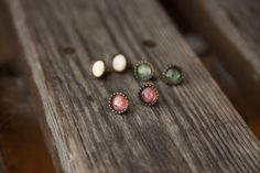 Ilianne | Jewelry Made of Love - Set of 3-Color Stud Earrings Polymer Clay, Jewelry Making, Stud Earrings, Color, Ear Gauge Plugs, Stud Earring, Colour, Jewellery Making, Make Jewelry